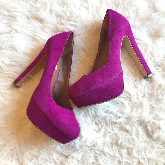 2920519a3d2 Steve Madden Beasst Purple Platform Heels Size 8